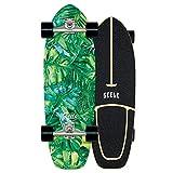 WRISCG Surfskate Skateboard Completo Arce Tablero 78×24cm, Rodamientos de Bolas ABEC Alta velicidad, 7 Capas Arce Duro, Carga de hasta 150 kg, para Principiantes y Profesionales,VOMI,B