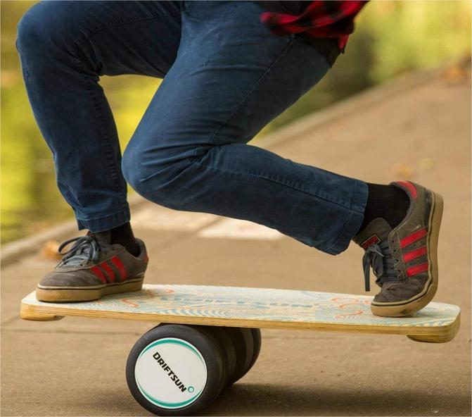 Balance Board – Entrenador de balance de Premium de madera con rodillo para Surf, Sup, Wakesurf, wakeskate, es