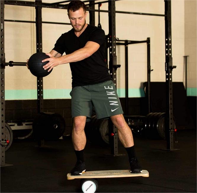 Balance Board 2– Entrenador de balance de Premium de madera con rodillo para Surf, Sup, Wakesurf, wakeskate, esquí, snowboard y sk